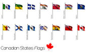 Flag Set of Canadian Provinces — ストック写真