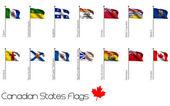Flag Set of Canadian Provinces — Stock Photo