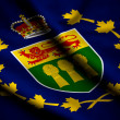 Flag of Lieutenant-Governor of Saskatchewan - Stock Photo