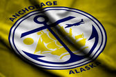 Flag of Anchorage — Stockfoto