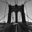 Brooklyn Bridge, Black and White — Stock Photo