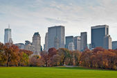 Looking at Midtown Manhattan from Central Park — Stock Photo