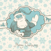 Christmas greetings background in retro style. Vector illustrati — Stockvektor
