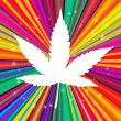 Royalty-Free Stock Vector Image: Cannabis leaf on abstract psychedelic background, vector, EPS10