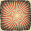 Grunge swirl rays retro background. Vector illustration, EPS10 — Stockvektor #8757380