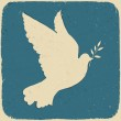 Dove of Peace. Retro styled illustration, vector, eps10. — Stock Vector