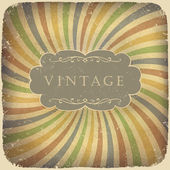 Grunge vintage card with space for text — Stock Vector