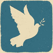 Dove of Peace. Retro styled illustration, vector, eps10. — Vecteur