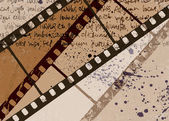 Grunge textura fondo película marco vector abstracto. eps10. — Vector de stock