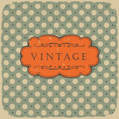 Polka dot design, vintage styled background. — Stock Vector
