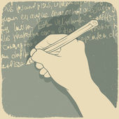 Vector illustration of a hand writing — Vecteur