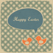 Stock Vector: Retro easter background, vector illustration.
