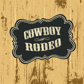 Grunge background with wild west styled label. Vector, EPS10. — Stok Vektör