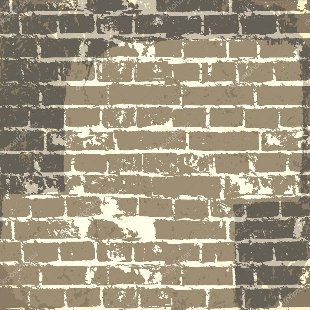 Brick Vector Picture Brick Veneers: Grunge Brick Wall Background For Your Message. Vector