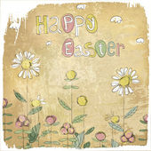 Happy Easter Vintage Card. — Stock Vector