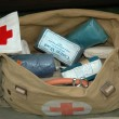World War 2 Army First Aid Bag - 图库照片