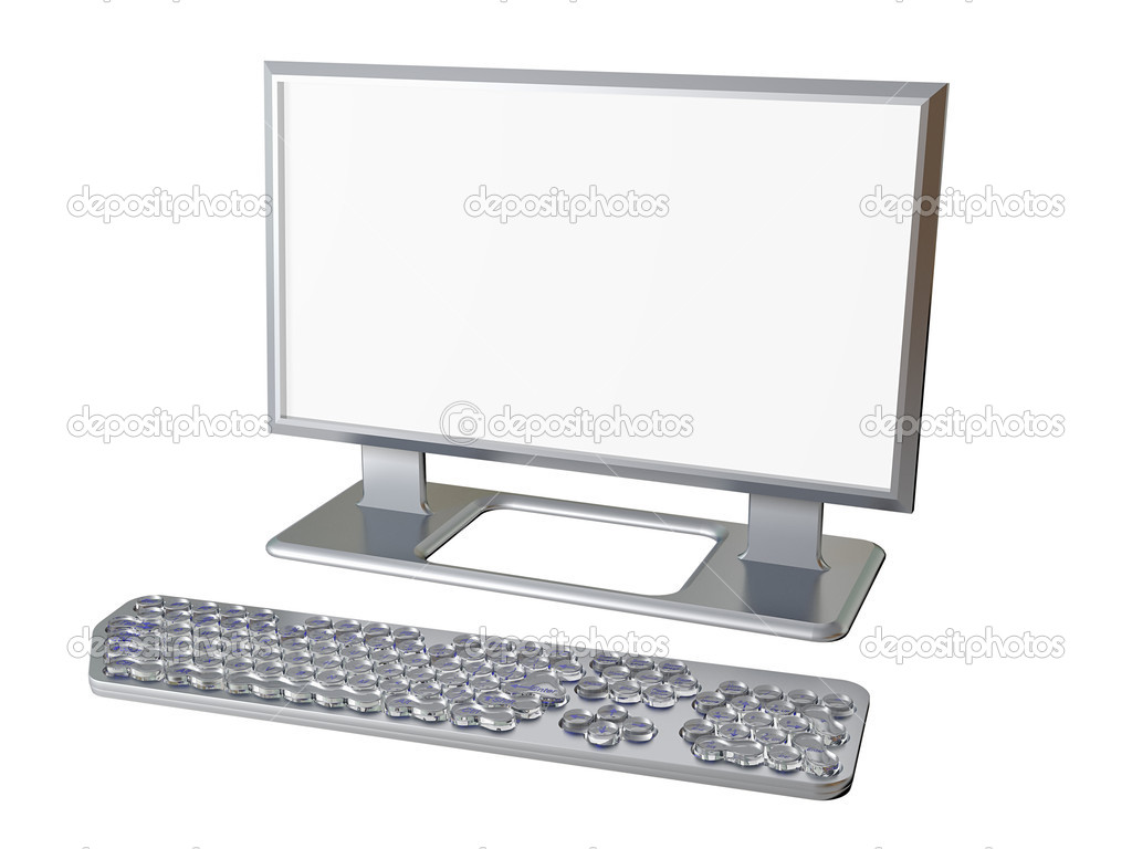 Monitor screen with keyboard — Stock Photo #9682515