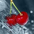 Blurry water being poured on cherries — Stock Photo #8910724