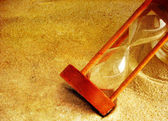 Hourglass in the sand — Stock Photo