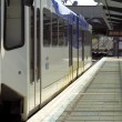 Light Rail Train Up Close - Stock Photo