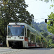 Light rail train in Portland, Oregon. - Stock Photo