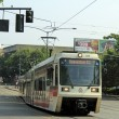 Streetcar Travels in Portland, Oregon - Stock Photo