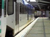 Light Rail Train Up Close — Stock Photo