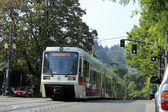 Light rail train in Portland, Oregon. — Stock Photo