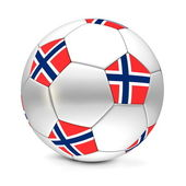 Soccer Ball/Football Norway — Stok fotoğraf