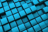 Abstract Blue Cubes Background - Close Up — Stock Photo
