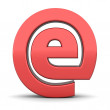 Shiny Red e-AT Symbol — Stock Photo