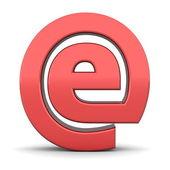 Shiny Red e-AT Symbol — Stock Photo