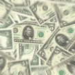 5 Dollar Notes Texture Radial Blur - Stock Photo