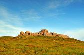 Abandoned base ruins in Carpathian mountains — Stock Photo