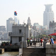Embankment of Huangpu river in Shanghai — Stock Photo