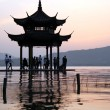 Pagoda on the West lake — Stock Photo
