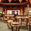 Inside traditional tea house — Stock Photo