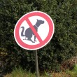 Dog stop sign — Stock Photo