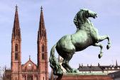 St bonifatius 教会在威斯巴登、 黑森、 德国 — 图库照片