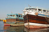 Three Trading Dhows — Stock Photo