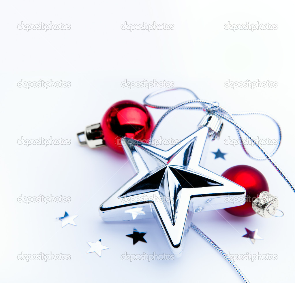 Christmas decoration on white background  Stock Photo #8064752