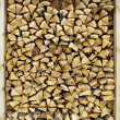 Firewood background - Stock Photo