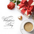 Royalty-Free Stock Photo: Art pleasant evening Valentine Day