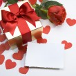 Valentine&#039;s greeting card - Stock Photo