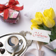 Art greeting Valentine&#039;s Day card - Stok fotoraf