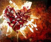 Ornamento de abstração de arte coração quebrado — Fotografia Stock