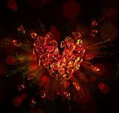 Corazón roto en pedazos del arte — Foto de Stock