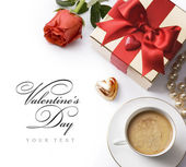 Art pleasant evening Valentine Day — Stock Photo