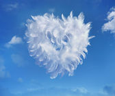 Art Love Heart soaring in the clouds — Stock Photo