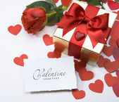 Valentine day greeting card — Stock Photo